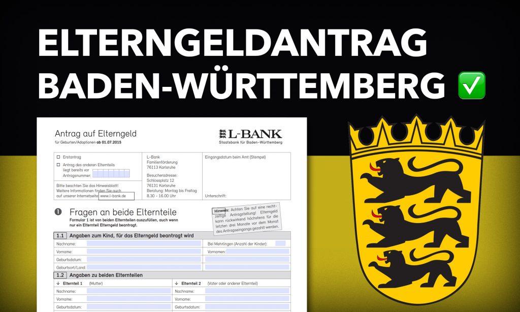 Elterngeldantrag Baden Württemberg