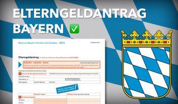 Zum Elterngeldantrag Bayern