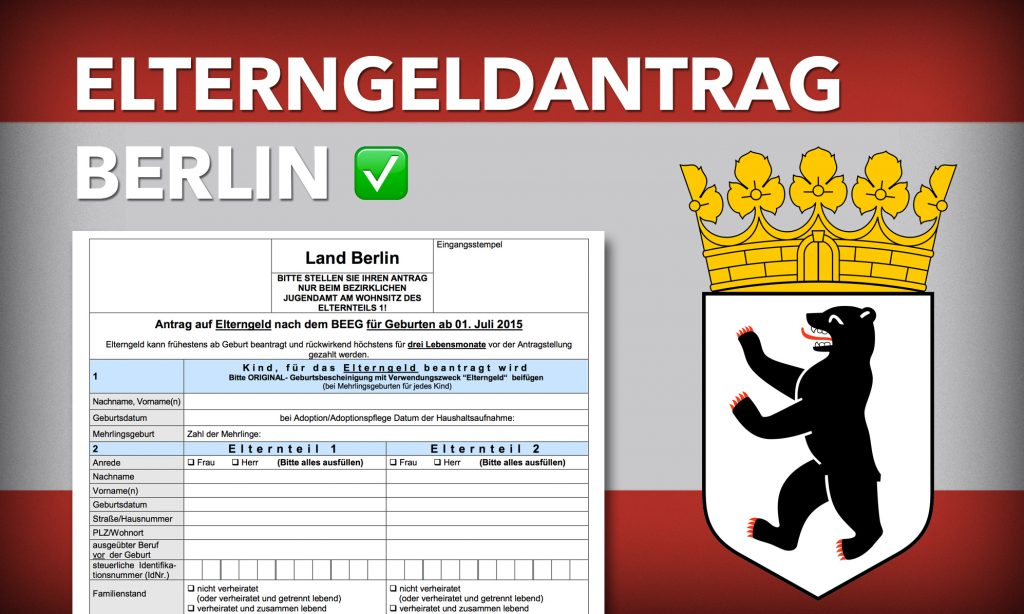 Elterngeldantrag Berlin Formular
