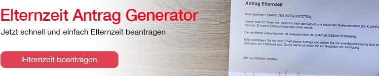 Elternzeitantrag Generator